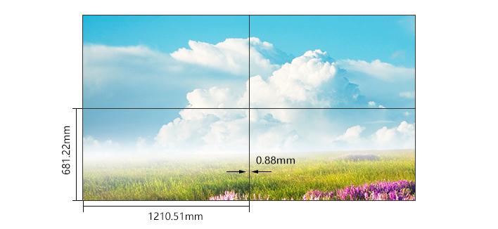 55寸0.88mm液晶拼接屏
